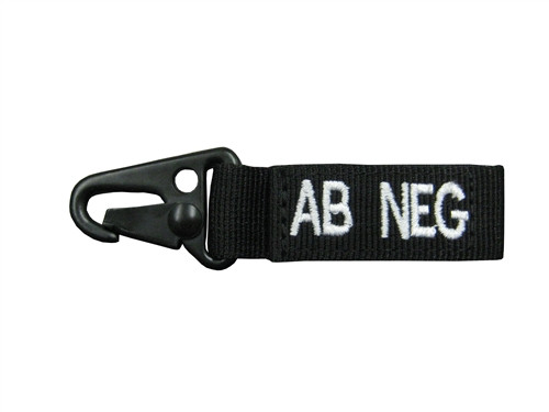 Set Of 2 Black Blood Type Tags For AB Negative