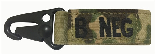 Set Of 2 Multicam OCP Blood Type Tags For B Negative