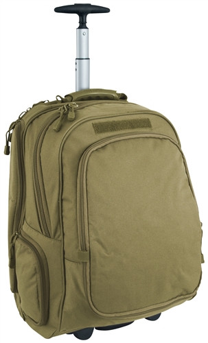 Coyote Brown Wheeled Laptop Backpack