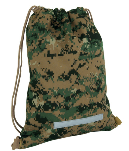 Digital Woodland Drawstring Backpack