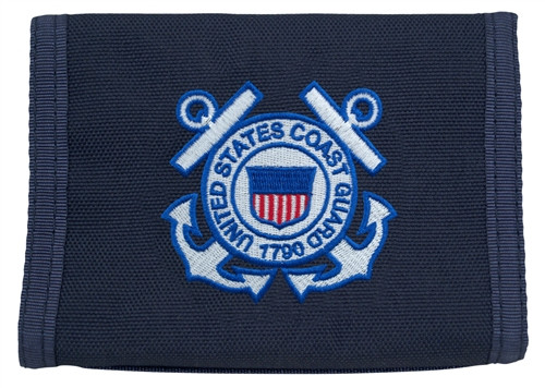Tri-Fold Wallet With Coast Guard Logo