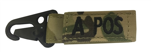Set Of 2 Multicam OCP Blood Type Tags For A Positive