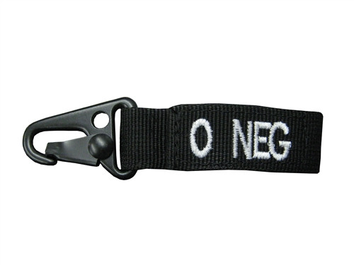 Set Of 2 Black Blood Type Tags For O Negative