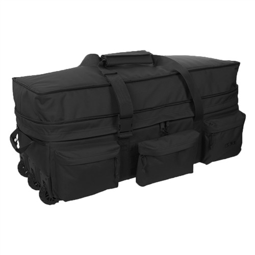 Black Extra Large Rolling Load Out Bag