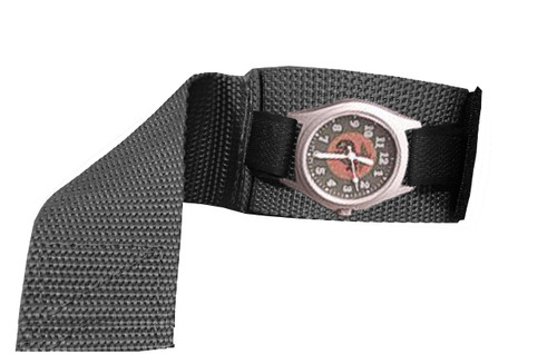 Black Covered Watchband