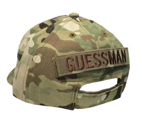 8d712072f1d4b Multicam US MADE 6 Panel Ball Cap With Cloth Back