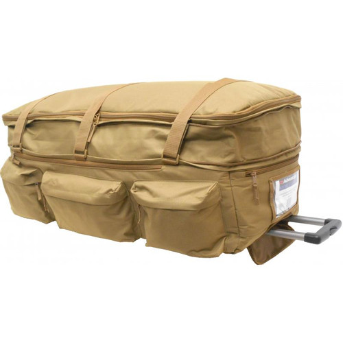 Coyote Expandable Wheeled Deployment Bag With Retractable Handle