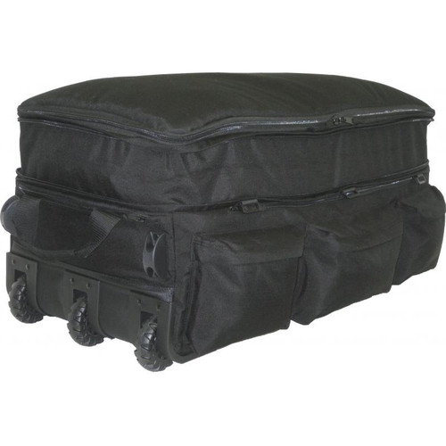 Black Expandable Wheeled Deployment Bag With Retractable Handle