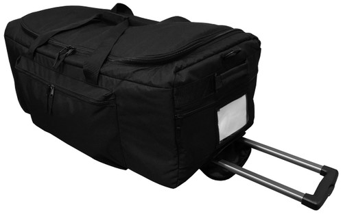 Black Deployment Bag With Retractable Handle