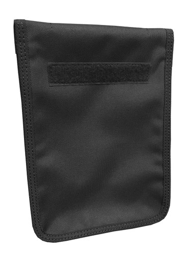 Black Zippered 6 x 9 Top Spiral Notebook Cover (With 6 X 9 Notebook)