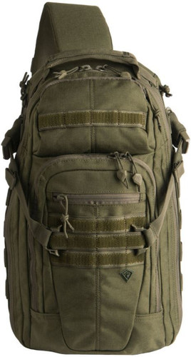 OD Green Crosshatch Sling Pack by First Tactical
