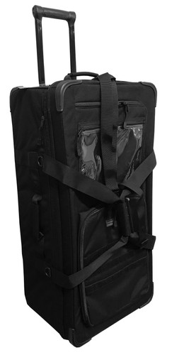Black 32 Inch Rolling Bag With Retractable Handle By Cougar Tactical