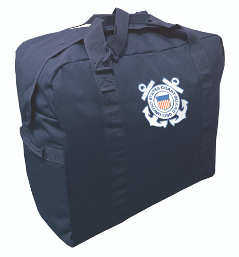 Navy Blue Jumbo Flyers Kit Bag Backpack With Coast Guard Logo