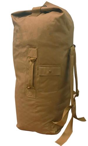 Coyote Top Loading Military Duffle Bag