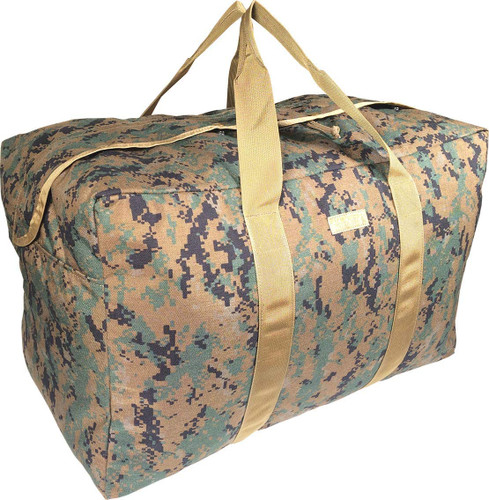 Digital Woodland Parachute Cargo Bag