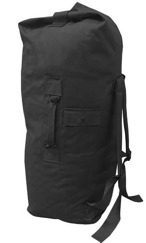 Black Top Loading Military Duffle Bag