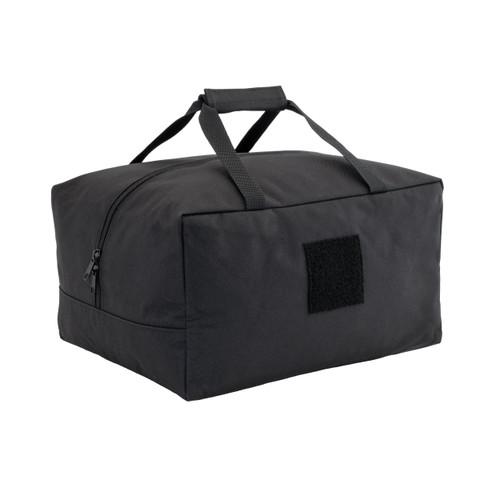 Black Ballistic Helmet And Plate Carrier Bag
