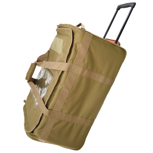 Coyote 30 Inch Buffalo Collapsible Rolling Military Duffle Bag