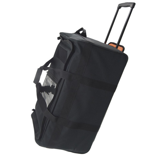 Black 30 Inch Buffalo Collapsible Rolling Military Duffle Bag