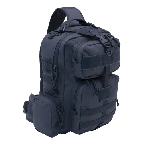 "Navy Blue ""Beat Feet"" Tactical Conceal Carry Sling Bag"