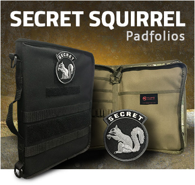Secret Squirrel Padfolios