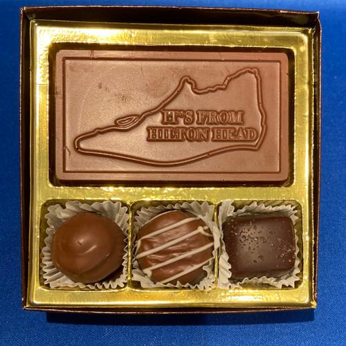 3 Piece Chocolate Favor Box
