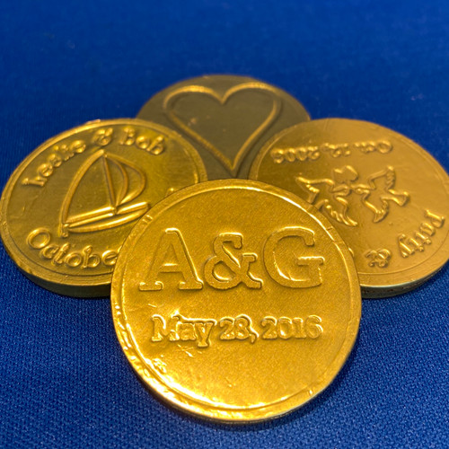 Personalized Chocolate Foil Coins (12 Count)