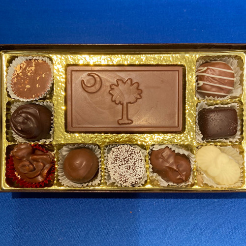 9 Pc Chocolate Box w/ Business Card