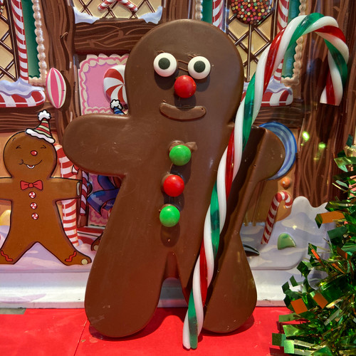 Milk Chocolate Gingerbread Man w/ Candy Cane