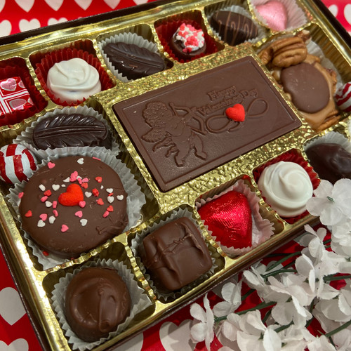 1 lb of assorted chocolates w/ a chocolate Valentine card