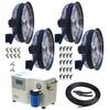 Four Fan  24 Inch ProMist 75 Package-1000 PSI