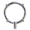 4 Inch Diameter Chrome Ring with For Nozzles and Hose Fitting included