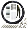 Fittings Included.    This kit allows you much versatility to build one continuous mist line with 8 nozzles or a ring to retrofit any fan.