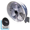 """18"""" Shrouded Oscillating Fan with 3 speed fan motor control ( 3/8 high pressure hose and  1000 PSI pump required)"""