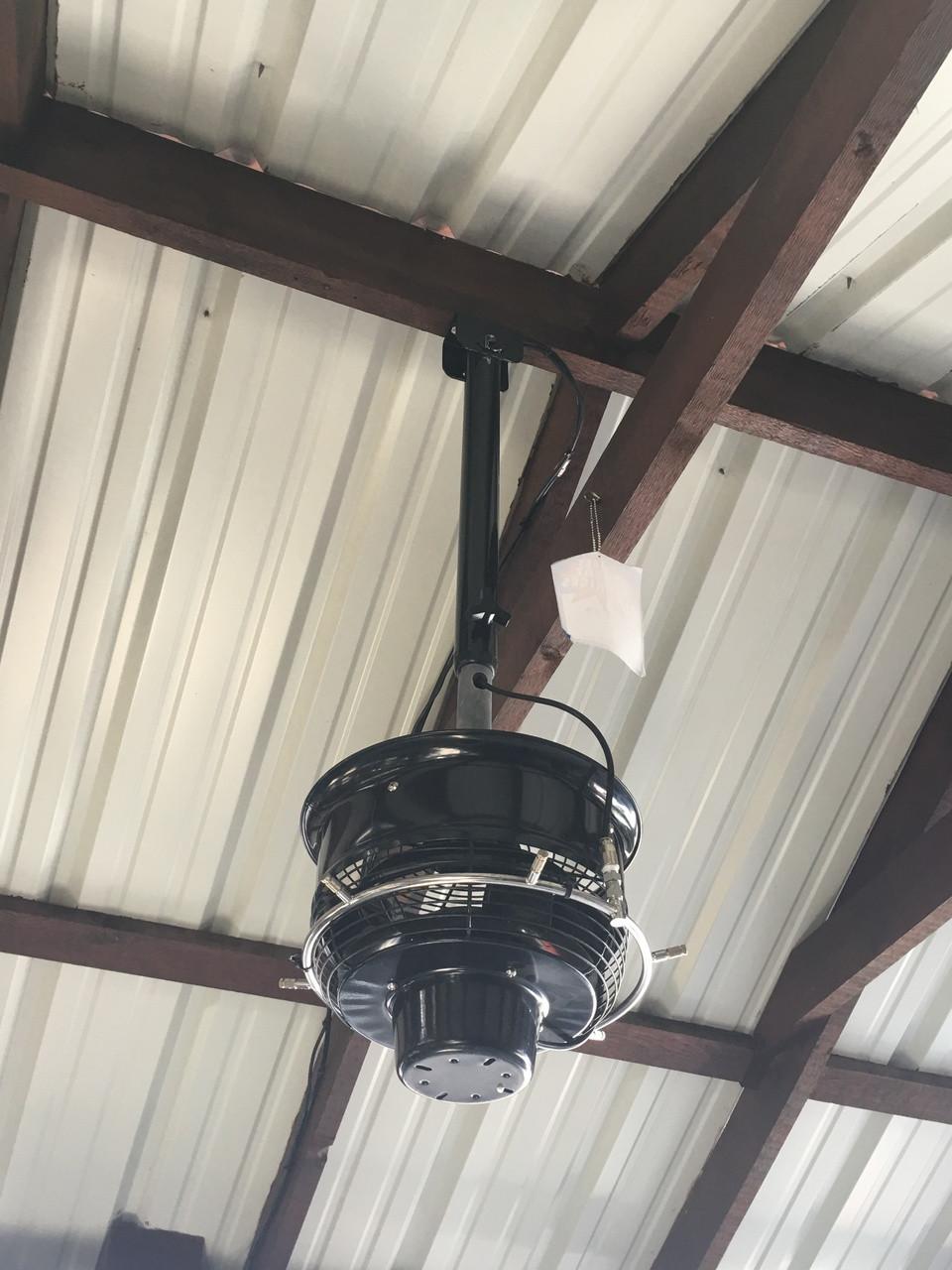 CentraMist Ceiling Mount Centrifugal Misting Fan