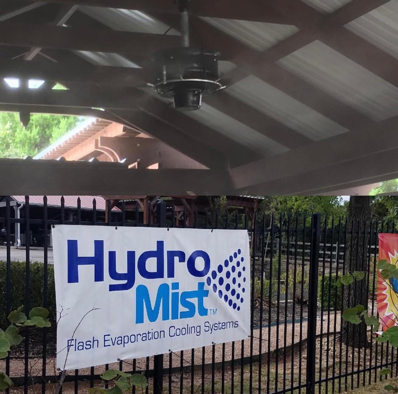 4 CentraMist Ceiling Mount Fans with Mist Pro32 Pump Package Black