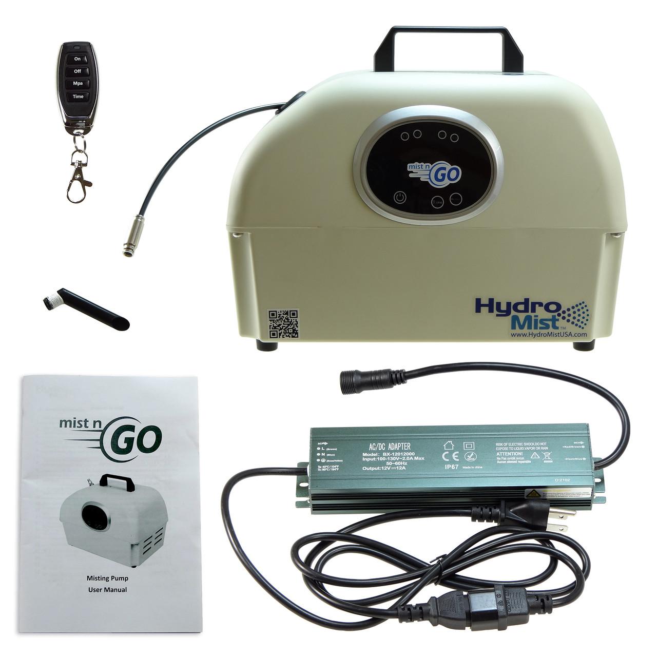 """Mist n Go 12 V DC 8 Nozzle 850 PSI Mist Pump, 1/4"""" Outlet"""