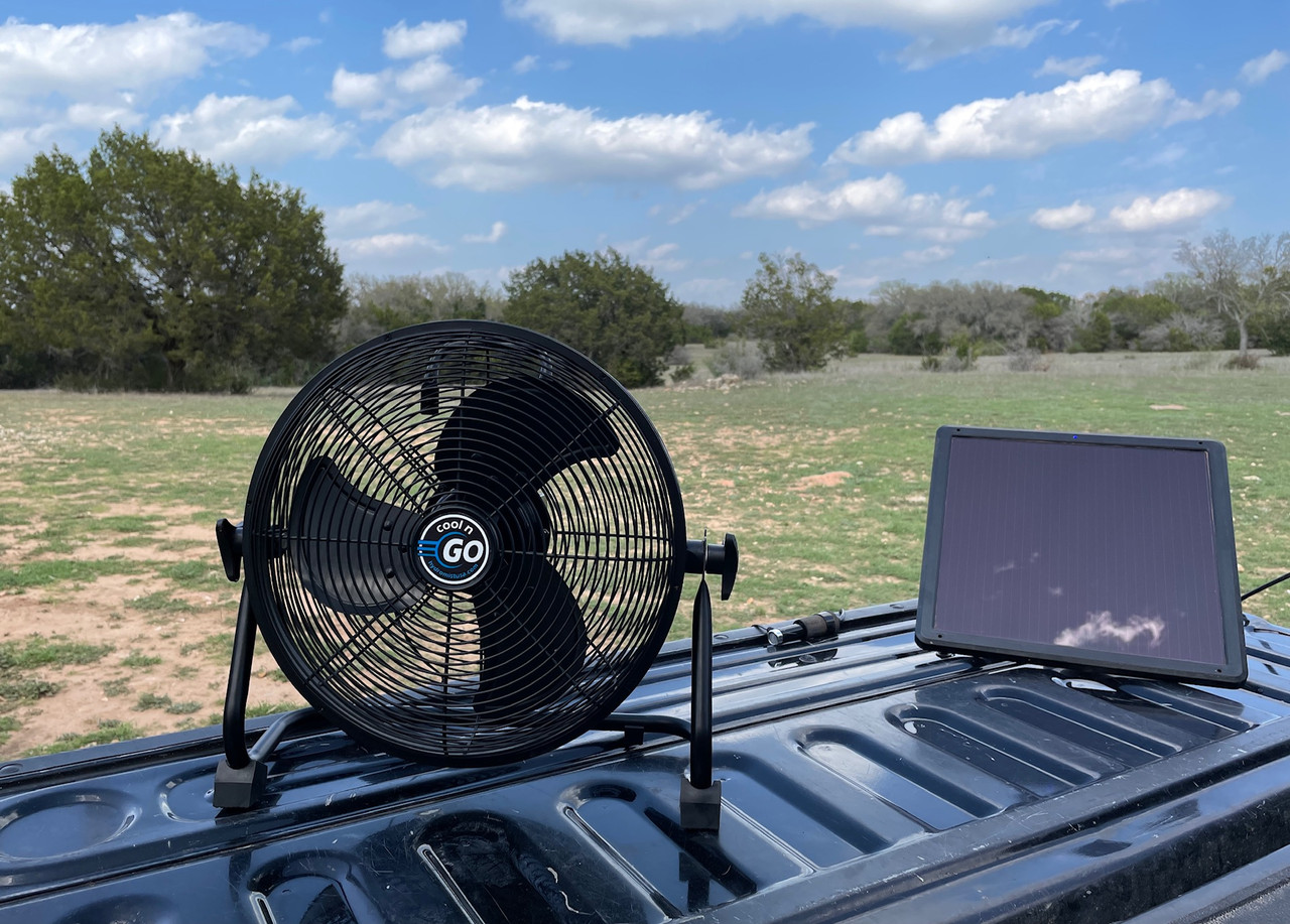 12-Inch Cool n Go Cordless Rechargeable Outdoor Fan