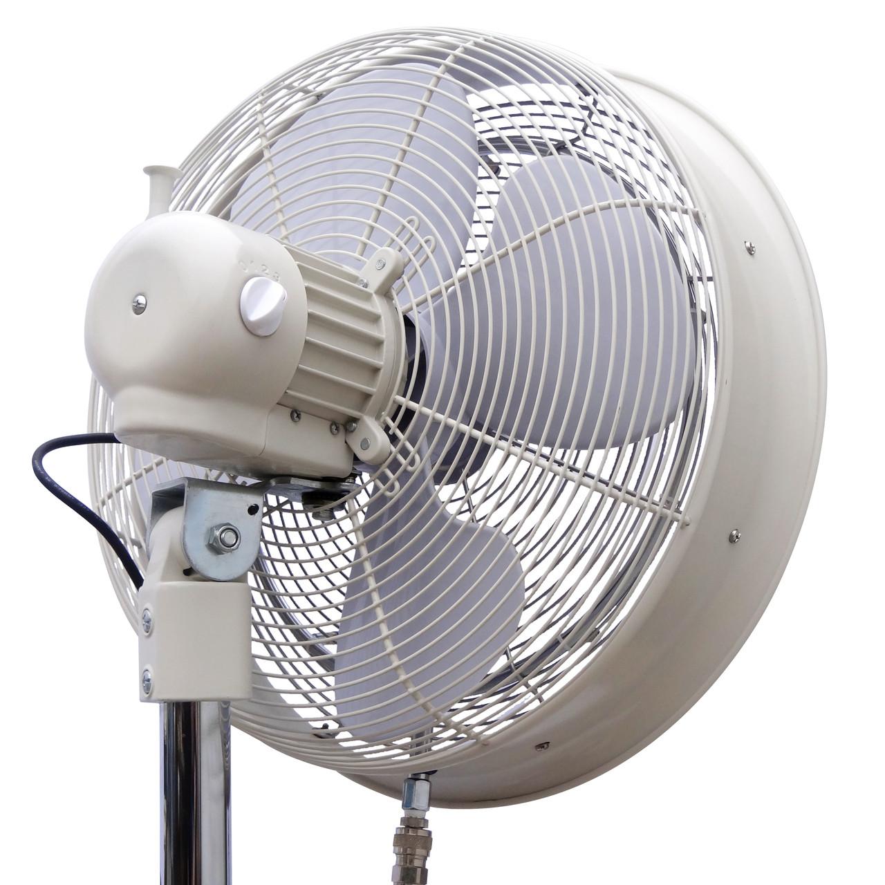 rear angle view of fan