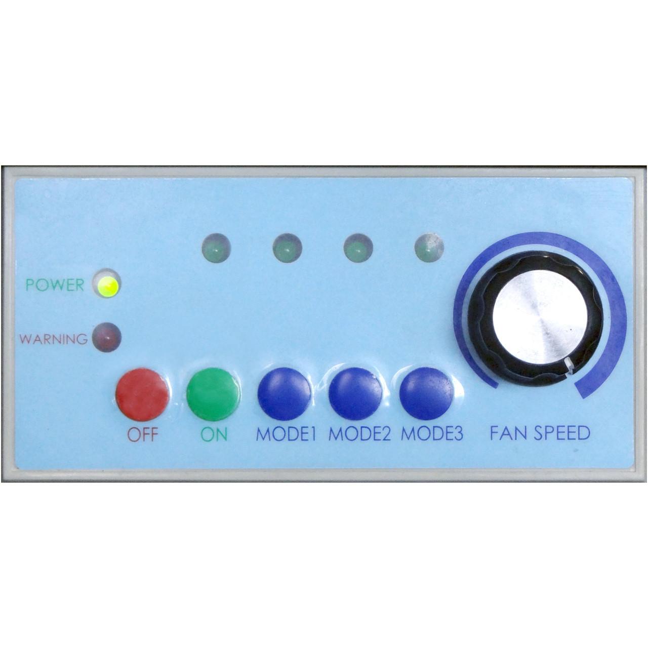 close-up of controls