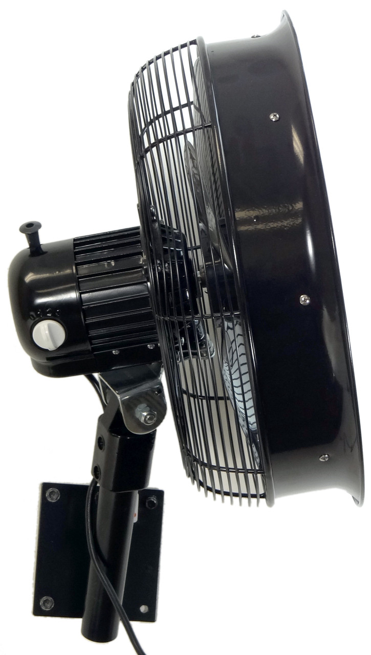 "Showing 3 Speed Control on Fan Motor (18"" model displayed)"