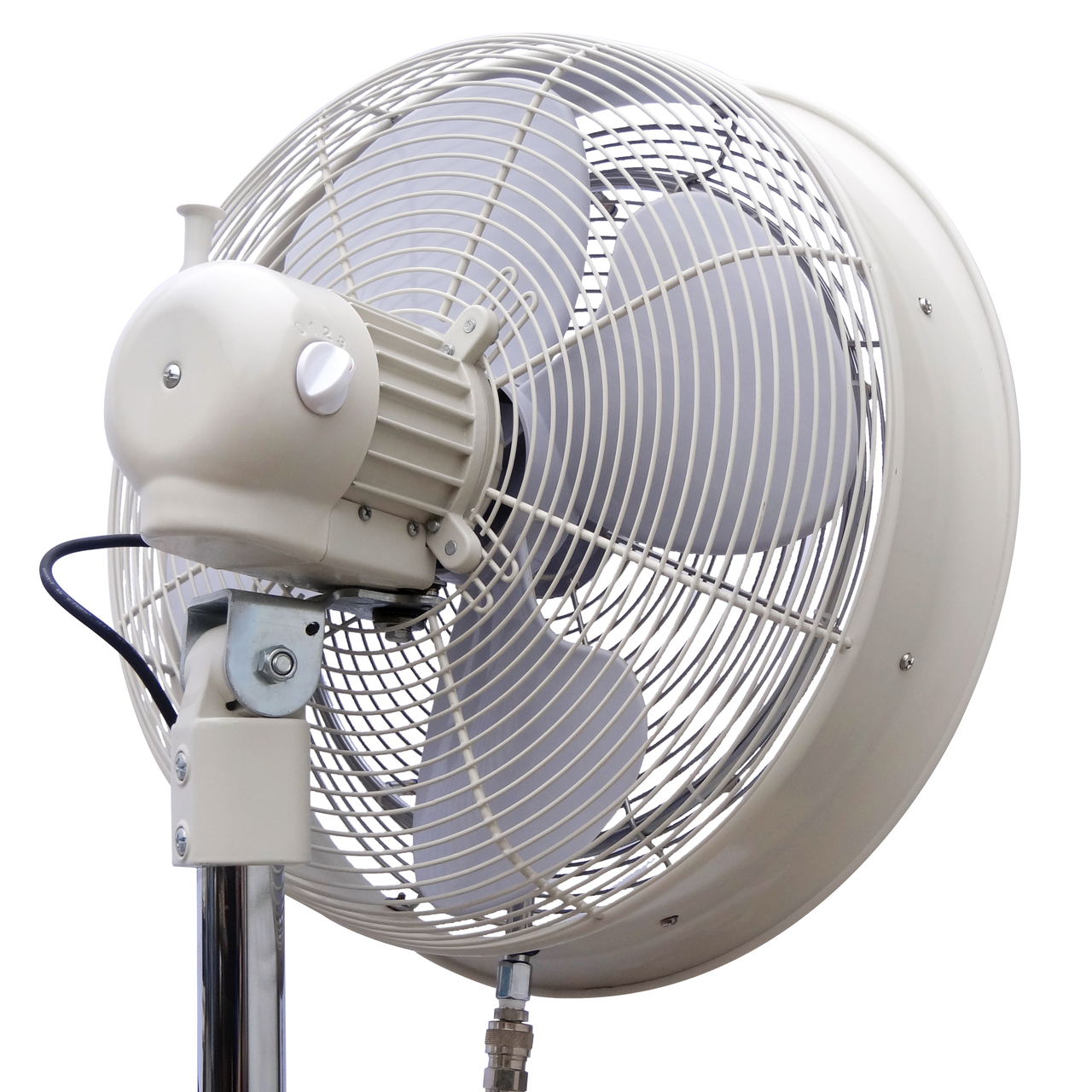 rear angle view of fan