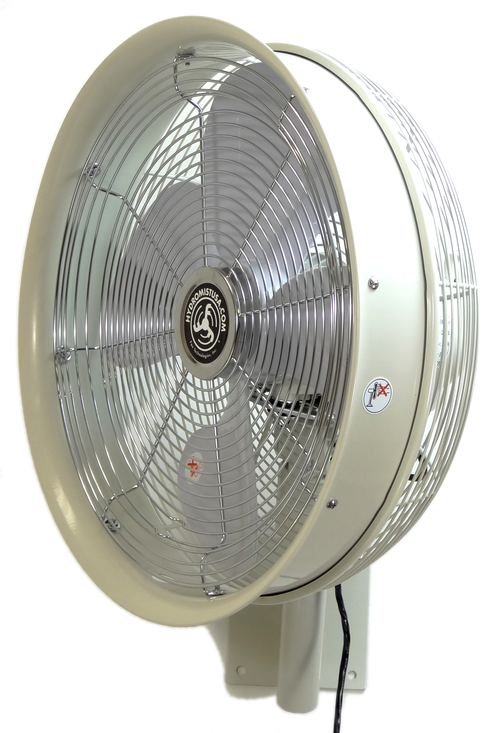 "HydroMist Now Offering  ""Fan Only"" Option on Popular Outdoor Wall Mount  Misting Fans"