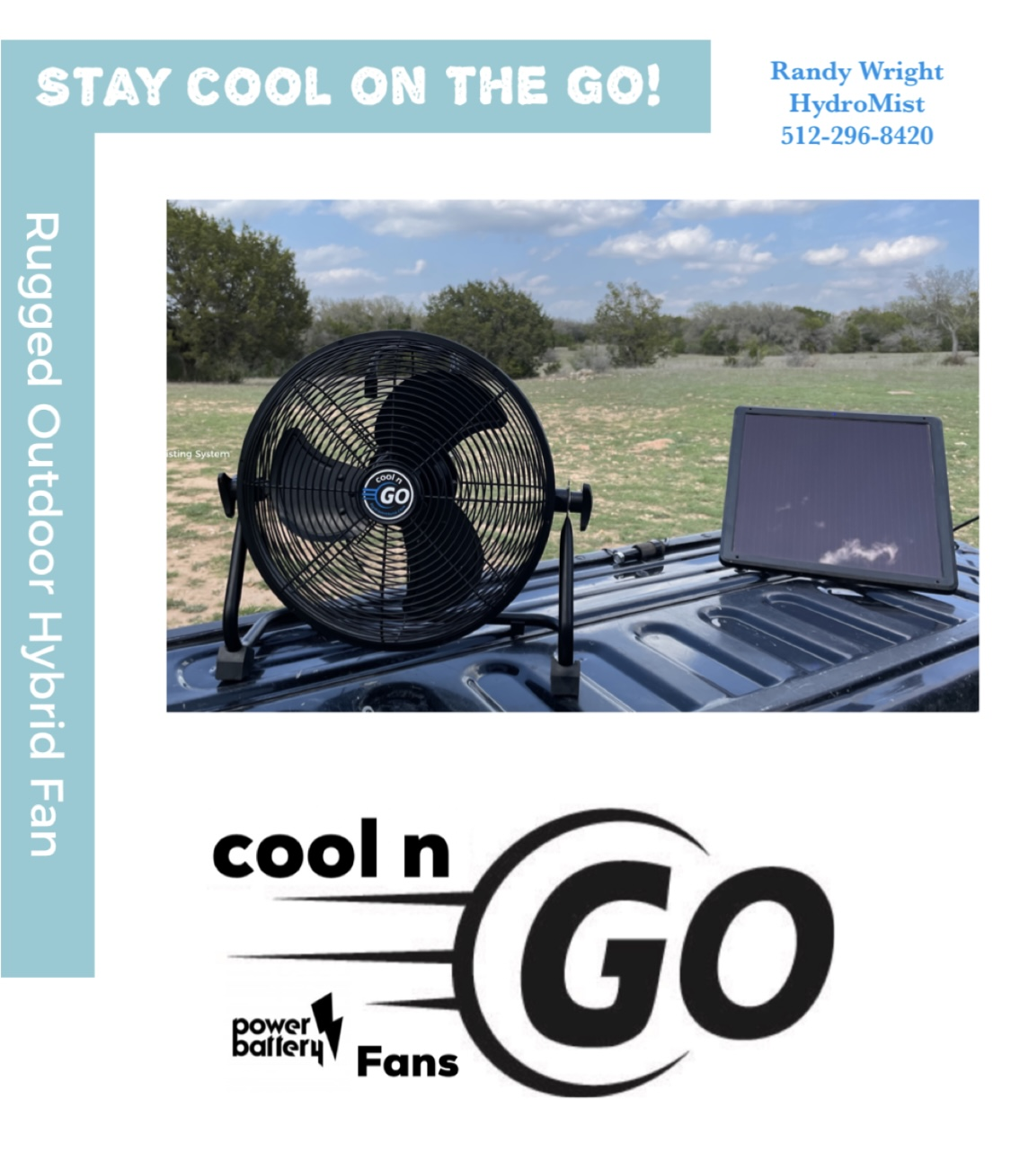 Cool n Go Battery Powered Hybrid Fan Coming Soon!