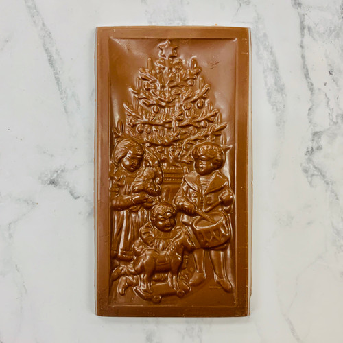 Milk Chocolate Christmas Scene Bar