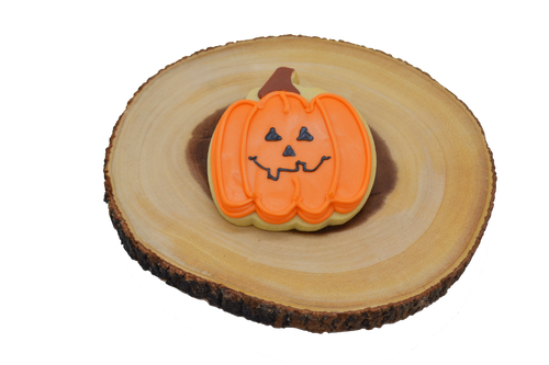 Halloween Jack-O-Lantern Shortbread Cookie