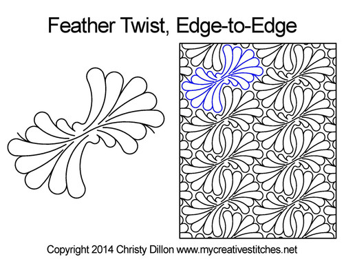 Feather twist edge to edge patterns