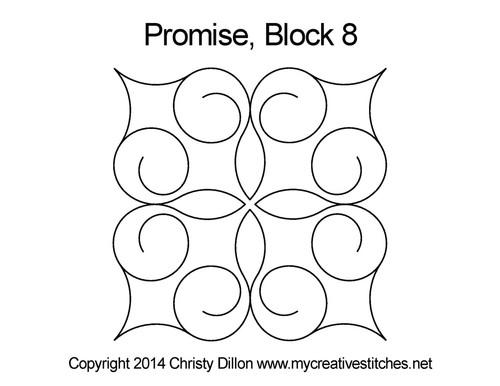 Promise block 8 quilting designs