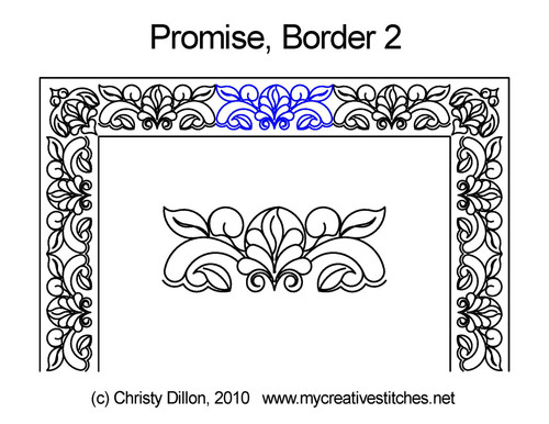 Promise border 2 quilting designs