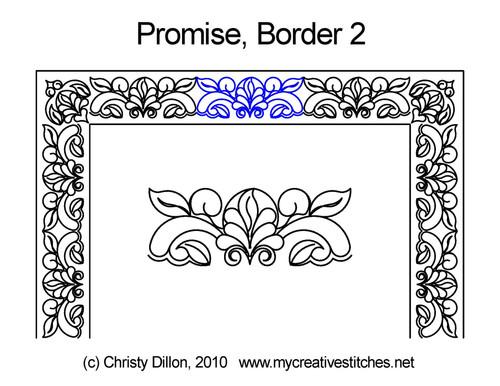 Promise border 2 quilting designs